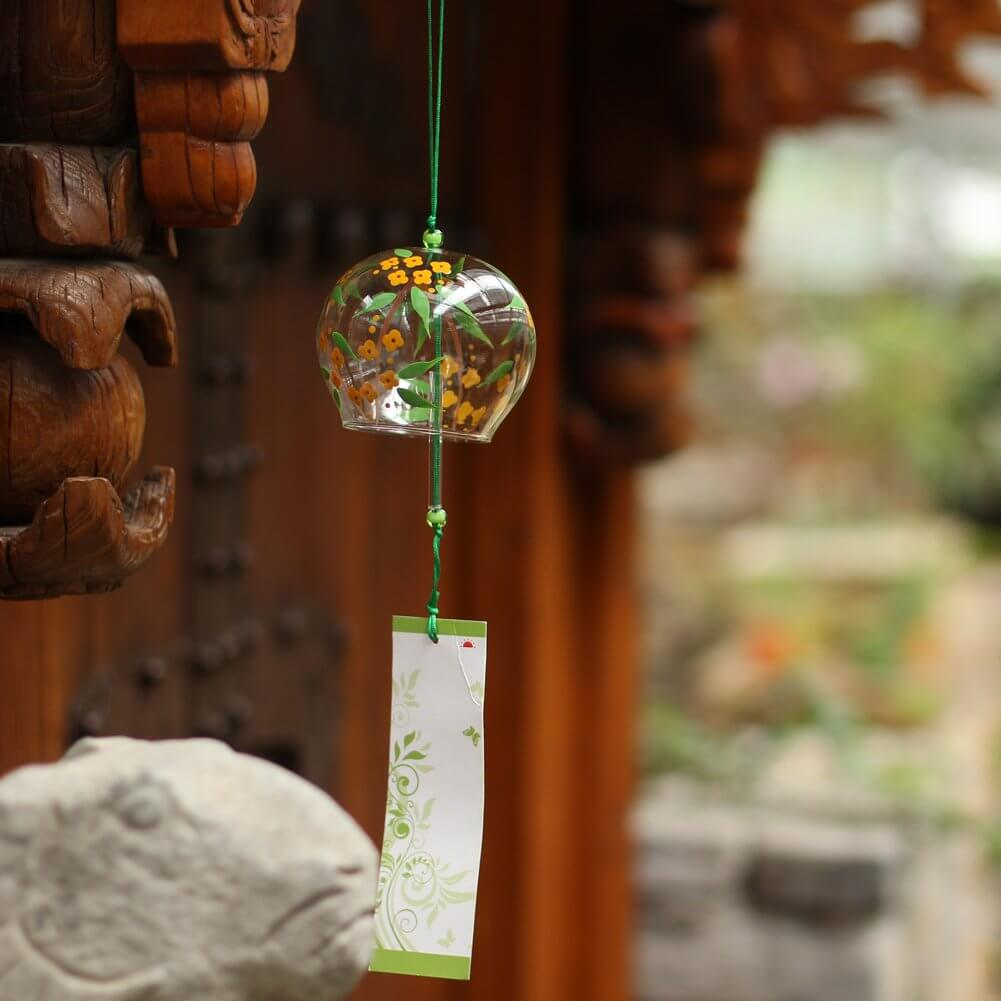 Handmade birthday Japanese glass wind chimes
